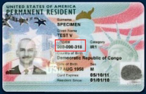 Alien Registration Number on Green Card-1