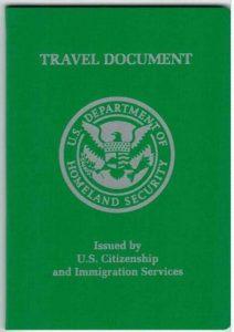 Refugee Travel Document