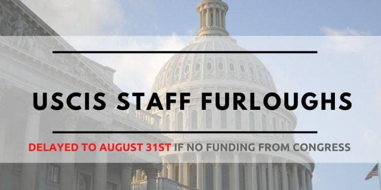 USCIS Furlough August 2020