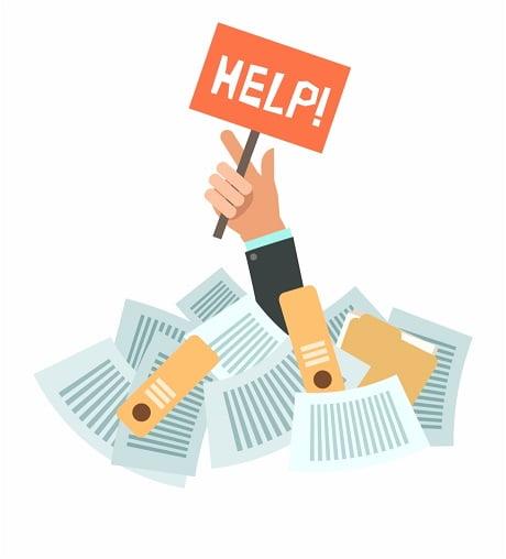 get rid of paperwork